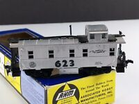 AHM 5277 O 623 Radio Equipped Radio Equipped Caboose Silver Steel HO Scale