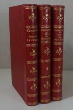 LAMARTINE Histoire de César EO + Grands Hommes t. 2 et 4 1856 reliés biographies