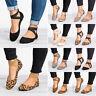 Women Ankle Strap Ballet Flat Cross Low Heel Pumps Ballerina Dance Casual Shoes