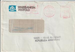 """FALKLAND ISLANDS - 1982 COVER """" ISLAS MALVINAS """" CACHET"""
