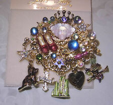Kirks Folly Wizard of Oz Good Witch brooch pin pendant goldtone