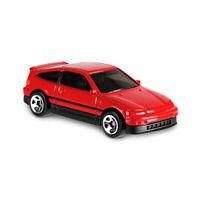 49 - 2019 Hot Wheels Nightburnerz - 1988 Honda CRX CR-X Die-Cast Car Red EF8