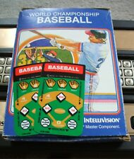 NEW WORLD CHAMPIONSHIP BASEBALL OVERLAYS FOR INTELLIVISION GAME FLASHBACK REPLAC