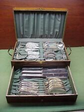 26 Piece Silverware Set YORKTOWN in 2 Tier Oak Presentation Box 1913 Gorgeous!