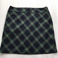 BNWT TALBOTS wool blend tartan skirt navy green red uk 18 rrp $99 AE