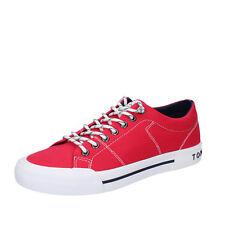 scarpe uomo TOMMY HILFIGER 43 EU sneakers rosso tessuto AB852-E aa20fdbefbc