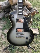 2016 Epiphone by Gibson Les Paul Custom Pro Silverburst Electric Guitar UNIQUE!!