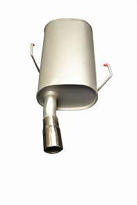 CITROEN SAXO VTS 1.6i 16v 96-04 REAR BOX SILENCER EXHAUST INC CHROME TAIL PIPE