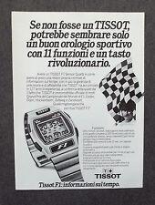 G282-Advertising Pubblicità - 1981 - TISSOT F1 SENSOR QUARZ