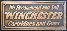 Winchester Cartridges and Guns brass store plaque sign #0814