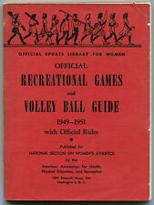 """1949-1951 """"Sports Library For Women"""" - VOLLEY BALL GUIDE"""