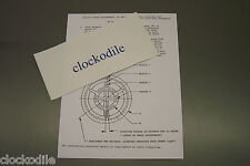 HERMLE BALANCE WHEEL REGULATING INSTRUCTION SHEET FOR CLOCK MOVEMENTS not manual