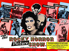 """"""" THE ROCKY HORROR PICTURE SHOW """" 1975 Retro Movie Poster A1A2A3A4Sizes"""