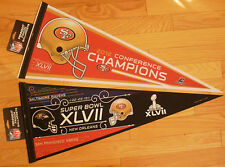Lot of 2 San Francisco 49ers Super Bowl XLVII Pennants