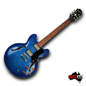 Epiphone ES335 Dot Deluxe Limited Edition Electric Guitar Blueberry Burst