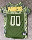 NFL Green Bay Packers Camo Jersey Dogs/Cats Licensed Size Large EUC