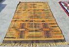 Hand Knotted Woven Vintage Chobi Kilim Kilm Wool Area Rug 5 x 3 Ft (10168 KBN)