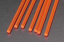 NEW Plastruct Rod Round Fluorescent Red 1/8  (7) 90273