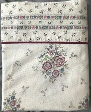 Vintage Fieldcrest Perfection Flat Sheet Queen Floral Polka Dots Shabby Chic
