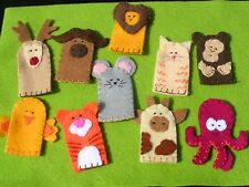 Set Of 3 Animal Finger Puppets