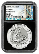 SALE - 2019 U.K. £2 Silver The Valiant St George 1oz NGC MS69 FR
