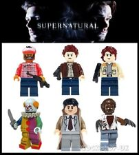 SUPERNATURAL x 6 set - SAM - DEAN - BOBBY - CASTIEL - fits lego figures