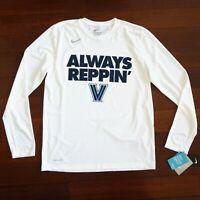 NIKE Villanova Wildcats Football NCAA Pennsylvania Men's T-Shirt Large NWT 355