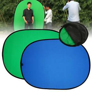 Green/Blue 2 in 1  Pop-up Backdrop Cloth Oval Background Panel Image Screen