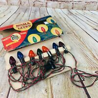 VINTAGE NOMA LITES CHRISTMAS TREE LIGHTS IN BOX WORK SAFETY PLUG