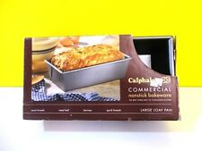 """CALPHALON loaf bread meatloaf pan 10"""" x 5"""" x 3"""" non-stick heavy duty aluminum"""