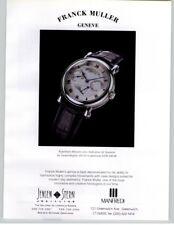 Franck Muller Platinum Repetition Minute 1994 Print Ad
