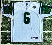 MARK SANCHEZ NY JETS NFL FOOTBALL JERSEY Mens Size XL 52 REEBOK WHITE