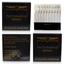 Sovereign Styptic Matches - Styptic Pencils - 1 Packet of 20 Alum Sticks
