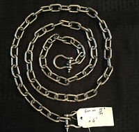 """Stainless Steel 316 Anchor Chain 6mm or 1/4"""" by 4' long with quality shackles"""