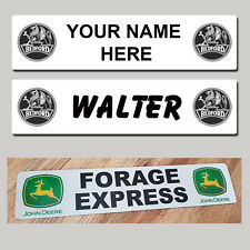 BEDFORD Lorry HGV Truck Trucker Windscreen SHOW NAME PLATES Name Classic Sign