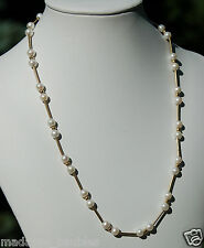 Elegant 14K Gold and Pearl Necklace - Single Strand