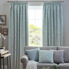 Terrys Fabrics Eleanor Ready Made Curtains Aqua Blue 229cm Wide x 274cm Drop