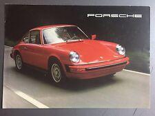 1977 Porsche 911S & Turbo Carrera Showroom Sales Folder / Brochure RARE! Awesome