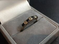 9Ct Gold Ring w/Sapphires & Diamonds, 1.5g, UK Size O, HM: B'ham 1994
