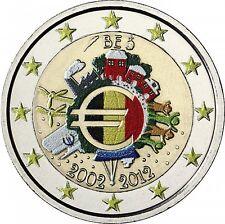 Estland 2 Euro 2012 stgl. 10 Jahre Euro- Bargeld in Farbe