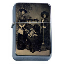 Vintage Witchcraft Witches D1 Flip Top Oil Lighter Wind Resistant Flame