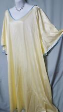 "WOMAN WITHIN ANKLE LENGTH SEXY & COMFY YELLOW NIGHTGOWN SZ 6X GIFT 80"" BUST"