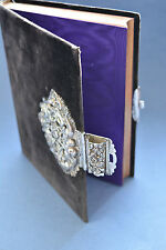 Beautiful Protestant The Book Of Common Prayer 1861 Church book Sterling clasp
