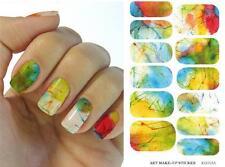 Multicolor Abstracto uña forma Arte Hoja Pegatinas Adhesivo Decoración Manicura