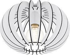 Deckenleuchte mit weißen Holz Lamellen E27 Kugel Lampe EGLO STELLATO 95028