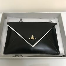 2ce3649838e5 VIVIENNE WESTWOOD Envelop Leather Pouch   Clutch - Black
