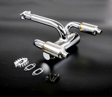 Double Exhausted Pipe With Muffler for HPI ROVAN KM BAJA 5B 23-45cc engine