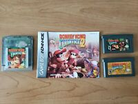Donkey Kong Country 1 and 2 GBA GBC Authentic Tested dkc 2 manual
