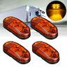 4x 12V 24V LED Ambre Feux Position Latéral Gabarit Avant Camion Remorque DOT SAE