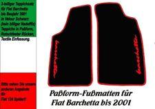 Fußmatten für Fiat Barchetta bis 2001  VELOUR! Schwarz Logo Rot